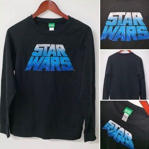 VTG Star Wars Logo Pullover Sweater Shirt Small